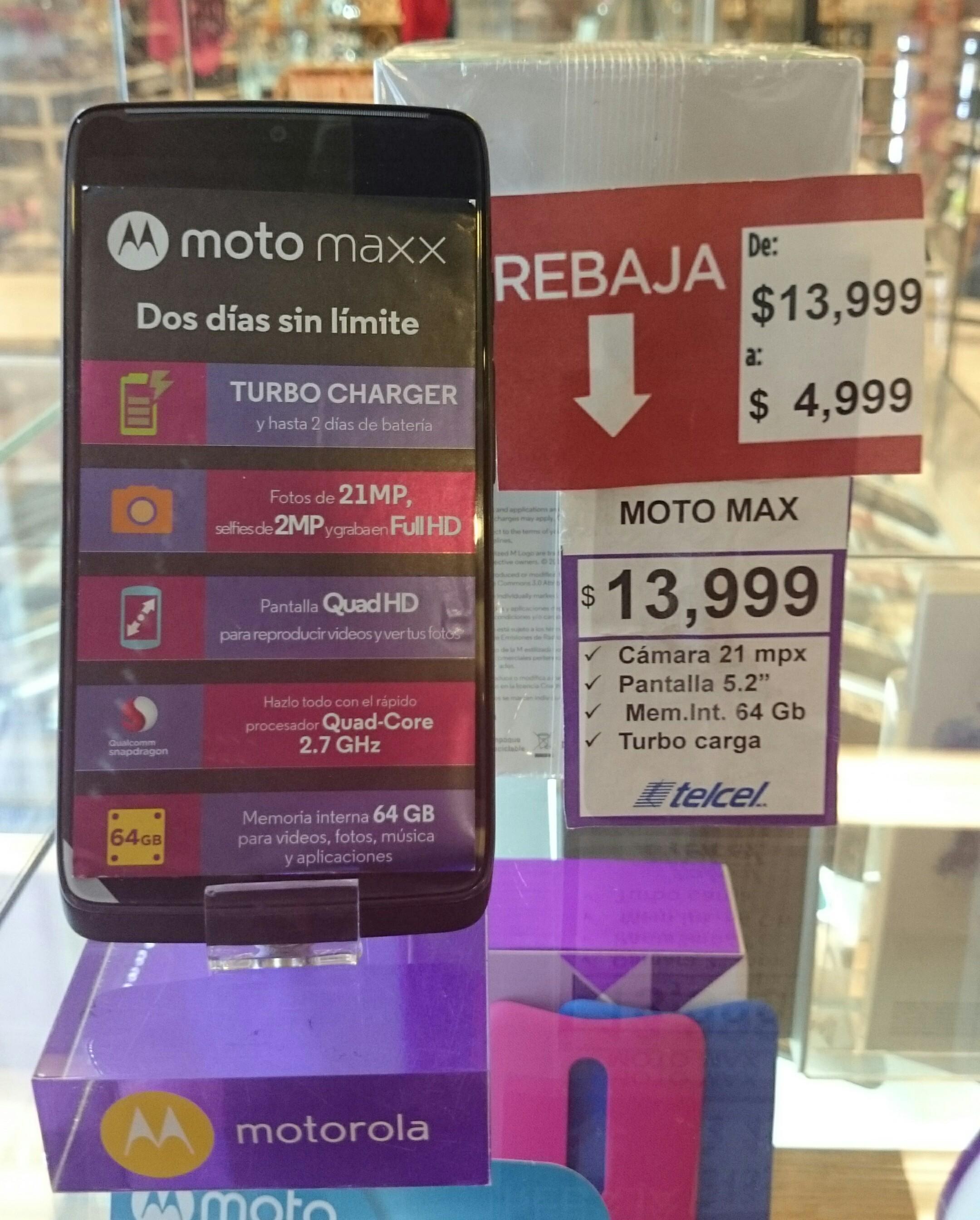 Suburbia Coacalco: Motorola Moto Maxx de 64Gb a $4,999
