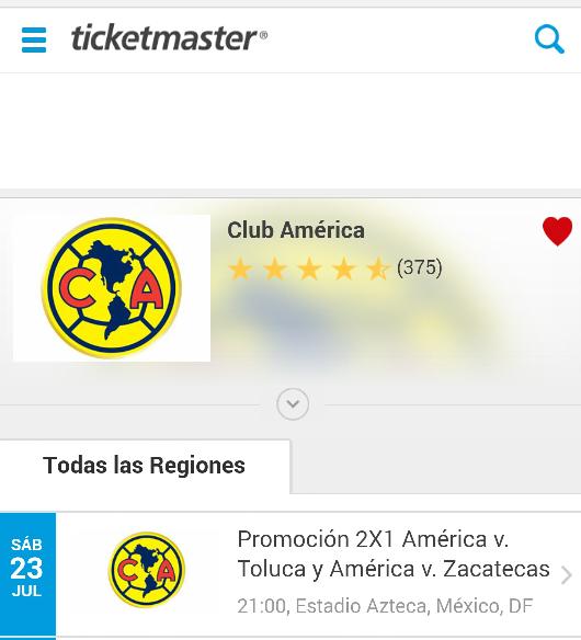 Ticketmaster: 2x1 para América vs Toluca