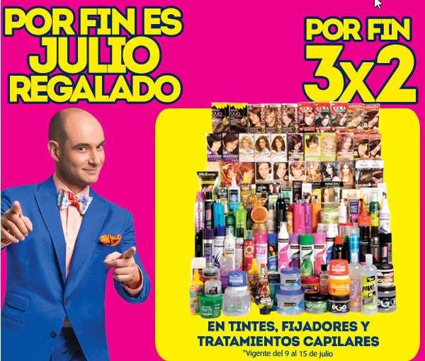 Ofertas de Julio Regalado en Comercial Mexicana: 3x2 en tintes, fijadores y más