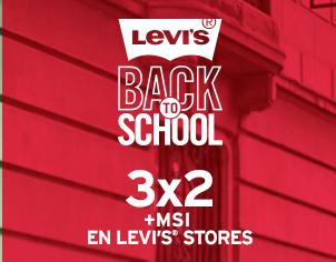 Levi's promoción regreso a clases: 3x2 en boutiques y -30% en departamentales