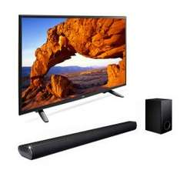 Sears en línea: pantalla LG de 49'' modelo 49LH5700 + barra de sonido LG modelo LAS350B.