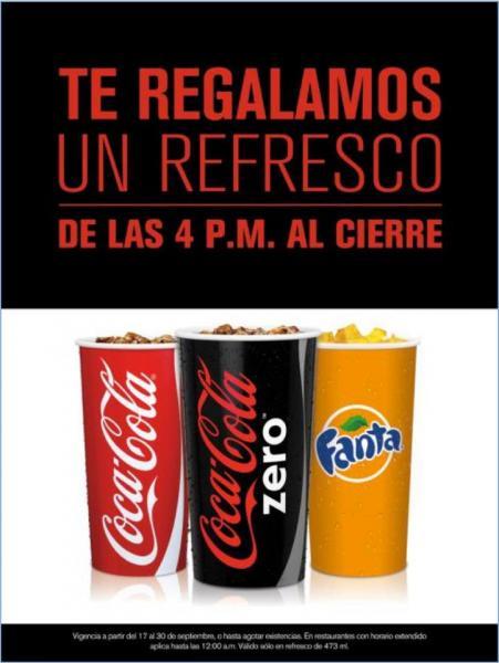 McDonalds: refresco gratis de las 4 pm en adelante