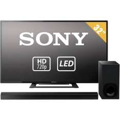 "TV Sony 32"" HD LED mas Barra de Sonido Sony + 18 meses sin intereses"