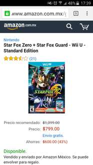 Amazon Mx: Star Fox Zero (incluye Star Fox Guard) en $799