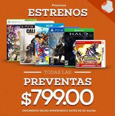 Bnkshop y Liverpool: todas las preventas $799 o menos (Halo 5, Destiny, Call of Duty, etc)