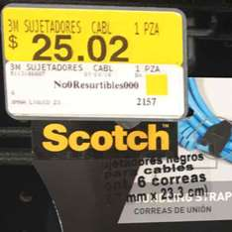 Walmart Miramontes (CDMX): sujetadores negros para cables marca 3M
