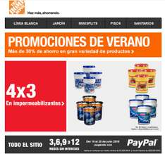 The Home Depot: 4x3 los Impermeabilizantes + meses sin intereses