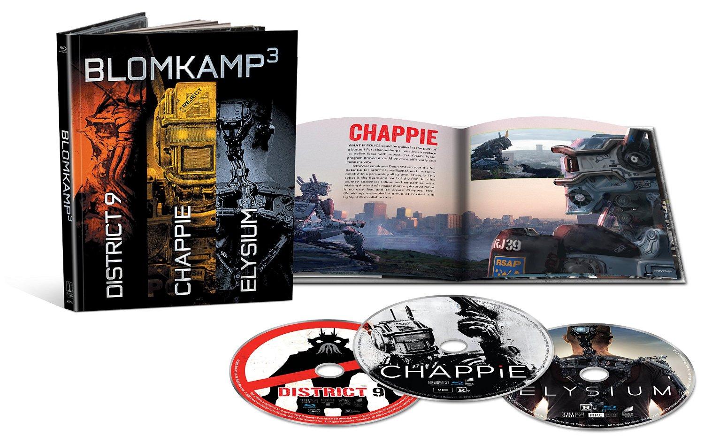 Amazon Mx: Paquete Blu-Ray Ed. Limitada, Chappie + Distrito 9 + Elysium + Libro + Copia Digital