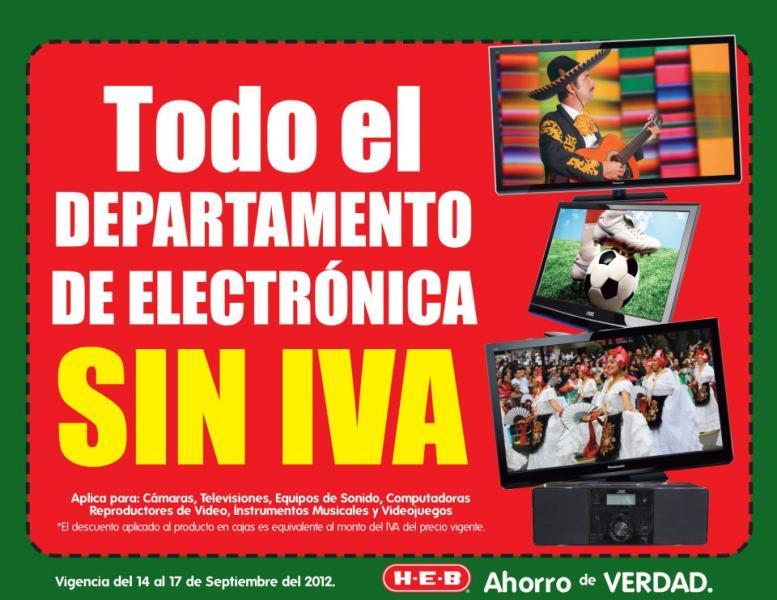 HEB: bonificación del IVA en toda la electrónica