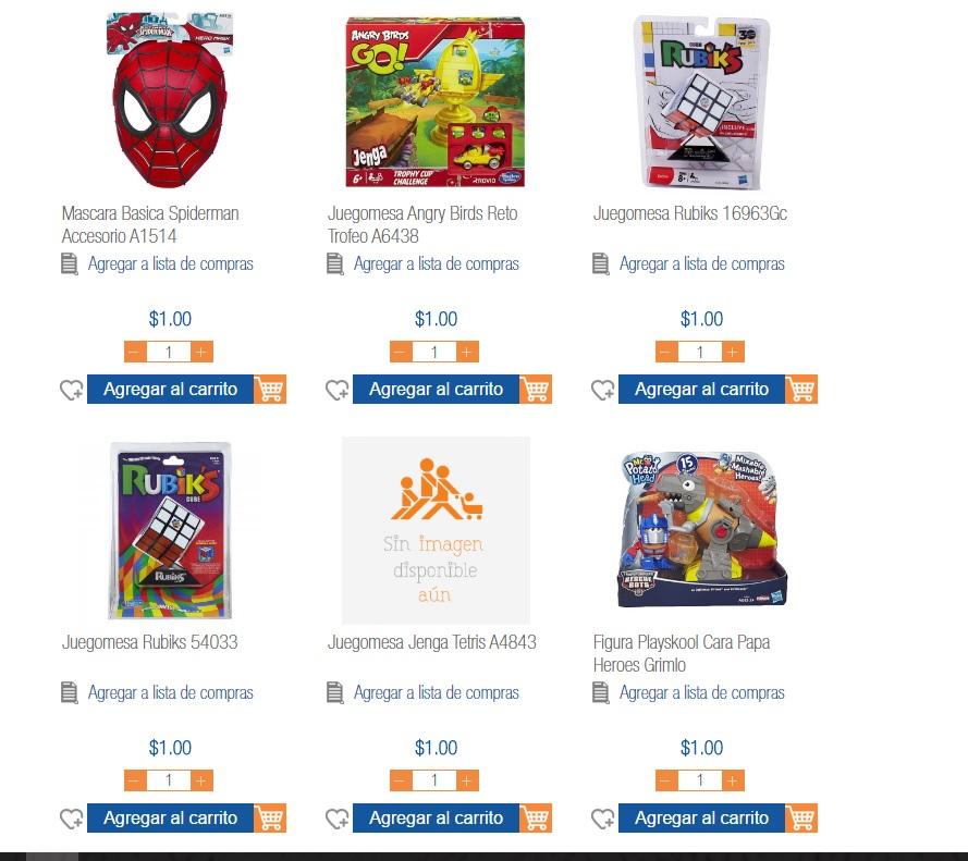 Chedraui Online Nuevo Laredo: Varios juguetes a 1 peso