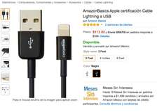 Amazon: Basics Apple certificación Cable Lightning a USB