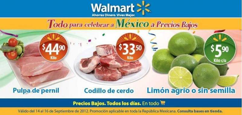 Fin de semana de frescura Walmart y Viernes de carnes y pescados en Chedraui septiembre 14