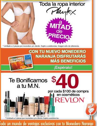 La Comer: $40 por cada $100 en cosméticos Revlon, ropa interior Playtex a mitad de precio y más