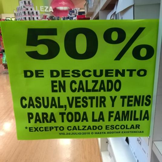 Comercial Mexicana: 50% en calzado para toda la familia, rebajas de aromatizantes para auto