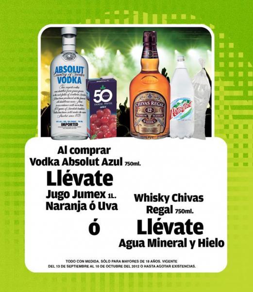 Tiendas Extra: 4x3 en Cubaraima, gratis Jumex al comprar Vodka Absolut y más