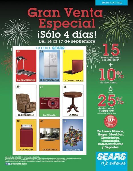Venta Especial Sears: 15 MSI y 10% de descuento o 25% en línea blanca, electrónica, hogar y más