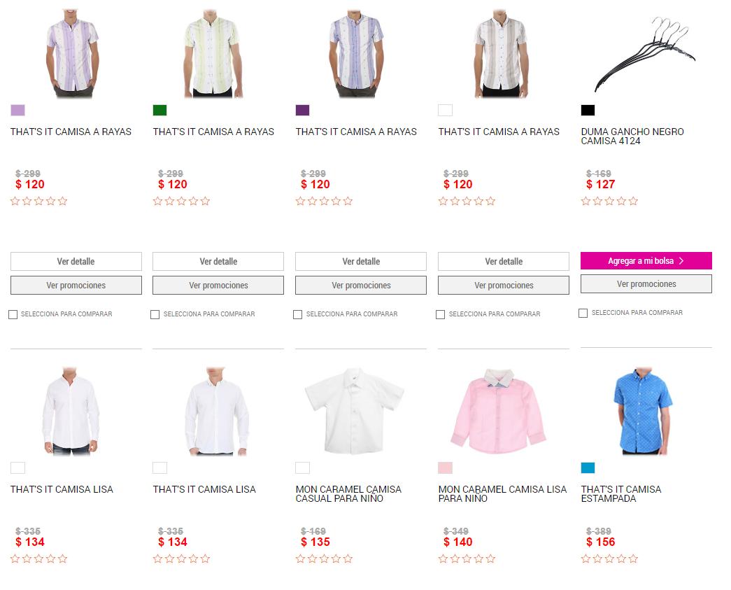Liverpool: varias camisas con 50+20% de descuento, modelos desde $120