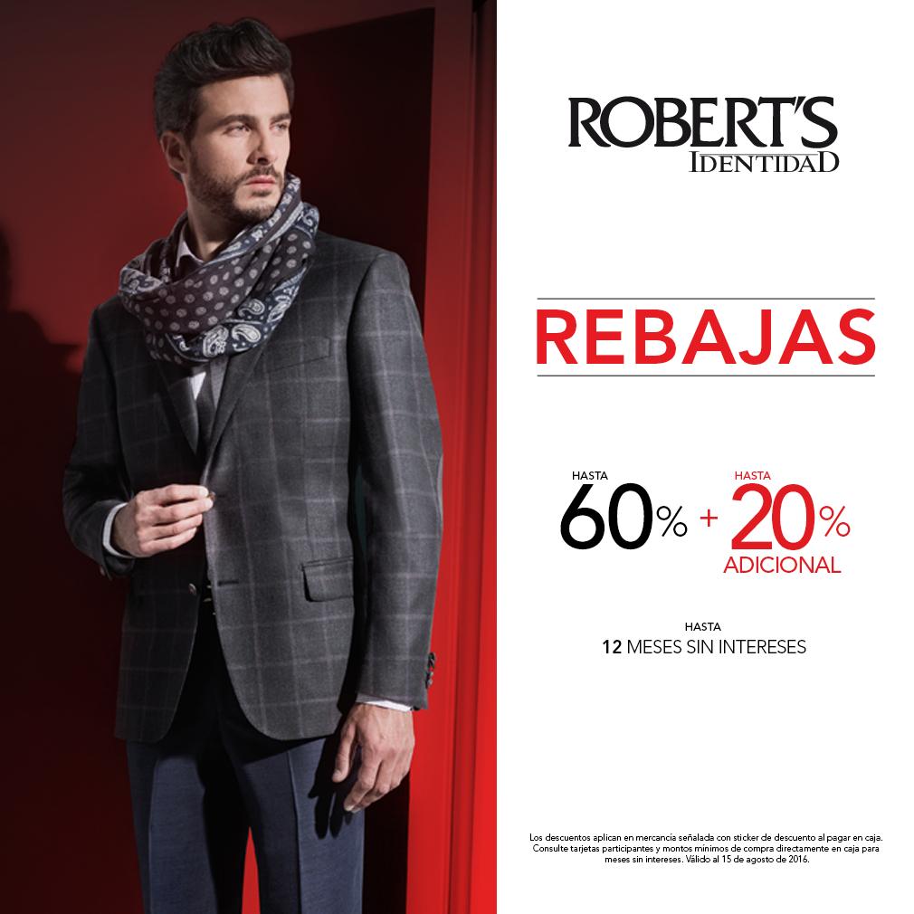 Roberts: En tiendas hasta 60% + 20%
