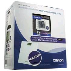Claroshop: Monitor de presión arterial de Muñeca automatico OMRON Mod. HEM-6131  + Bascula DIgital Gratis a Mitad de Precio