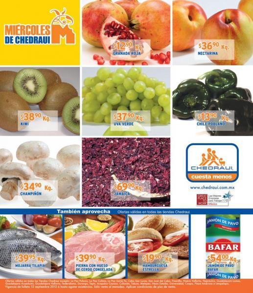 Miércoles de frutas y verduras Chedraui septiembre 12: pera $21.50, lechuga romana $3.80 y más