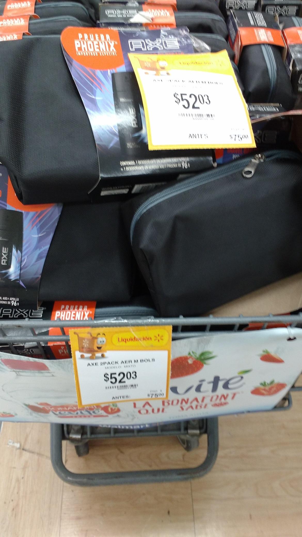 Walmart: Bolsa de viaje +  2 desodorantes Axe a $52.03