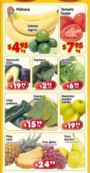 Frutas y verduras en HEB: plátano y limón agrio $4.95 y más