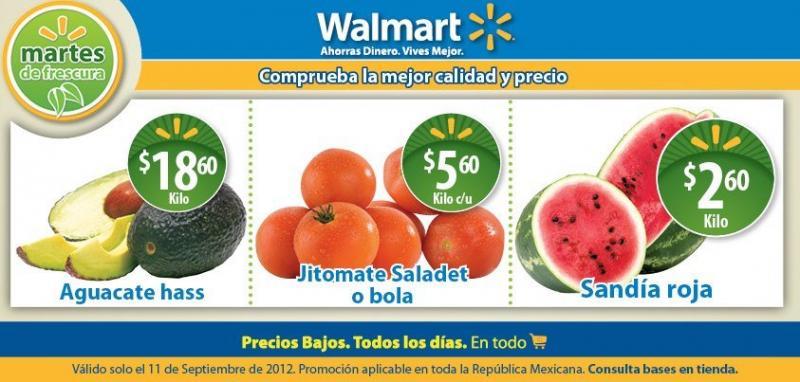 Martes de frescura en Walmart septiembre 11: sandía $2.60, jitomate $5.60 y más