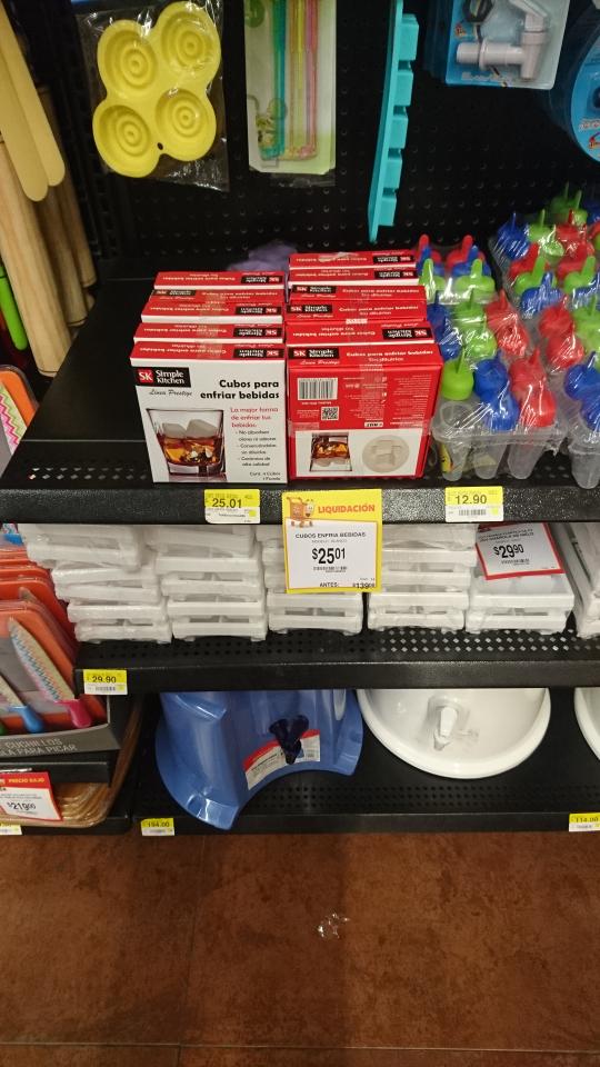 Walmart santa fe: cubos hielo a $25.01