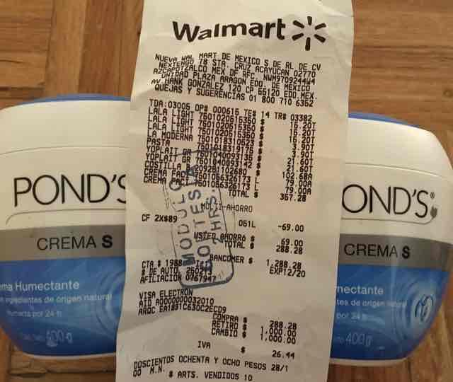 Walmart Plaza Aragón: Crema Pond's 2x89