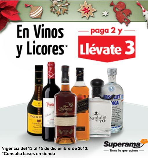 Superama: 3x2 en vinos y licores