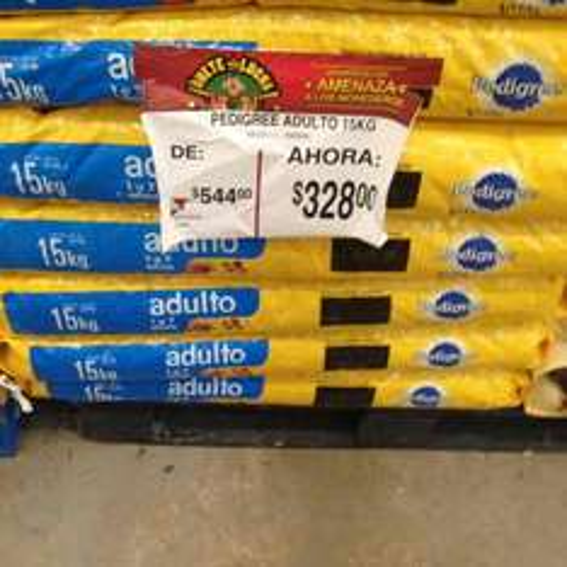Bodega Aurrerá Leona Vicario Cancún: pedigree 15 kg a solo $328