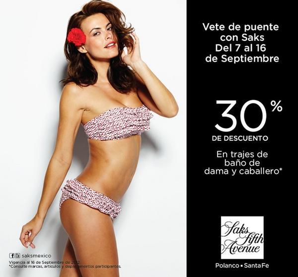 Saks Fifth Avenue: 30% de descuento en trajes de baño