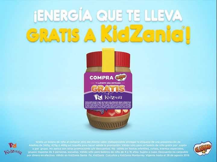 KidZania & Aladino: 2x1 en boletos de niño presentando etiqueta en taquilla