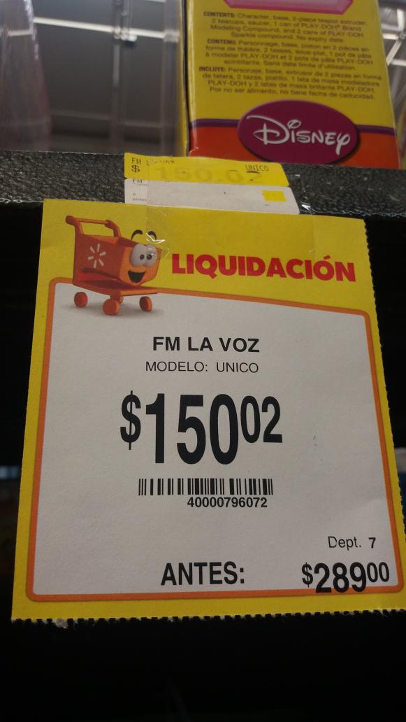 Walmart Cuautla: Juego de la Voz a $150.02