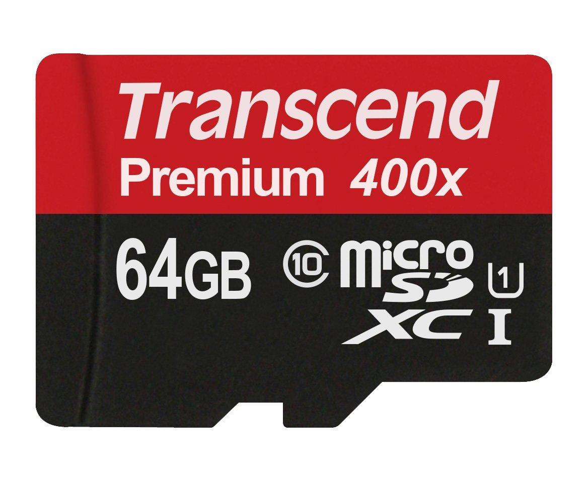 Amazon USA: Transcend 64GB MicroSDXC Class 10 UHS-1 a $13.99 USD (aprox. $263 MXN)