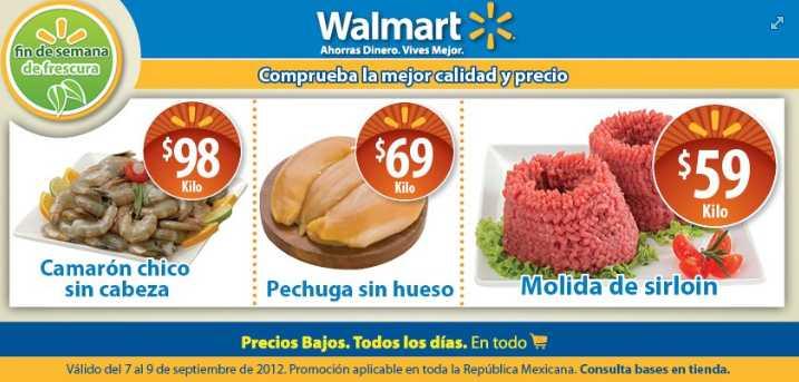 Fin de semana de frescura Walmart y Viernes de carnes y pescados Chedraui septiembre 7