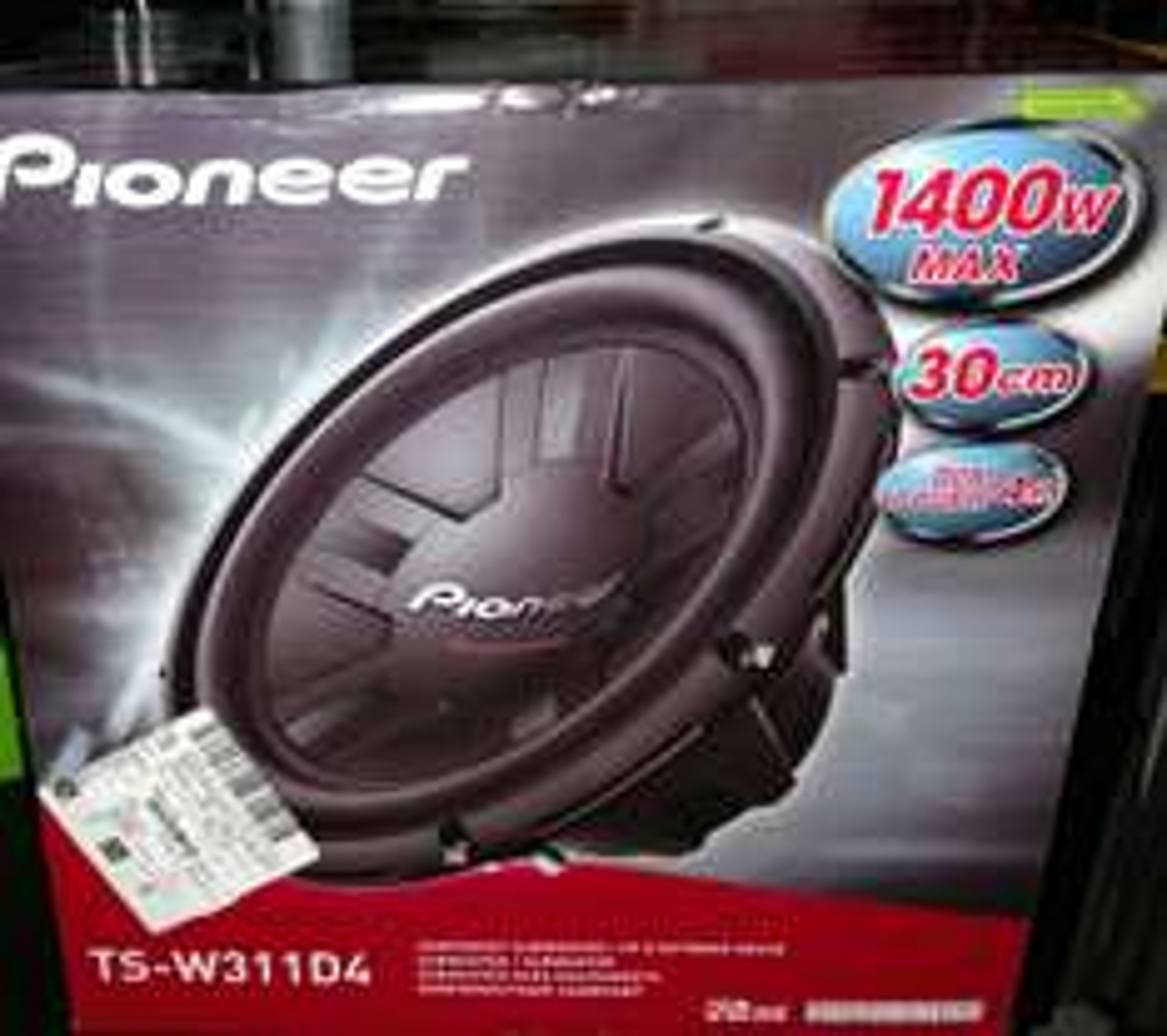 Walmart Poligono: Subwoofer Pioneer 1400 watts 30 cms a $629 pesos