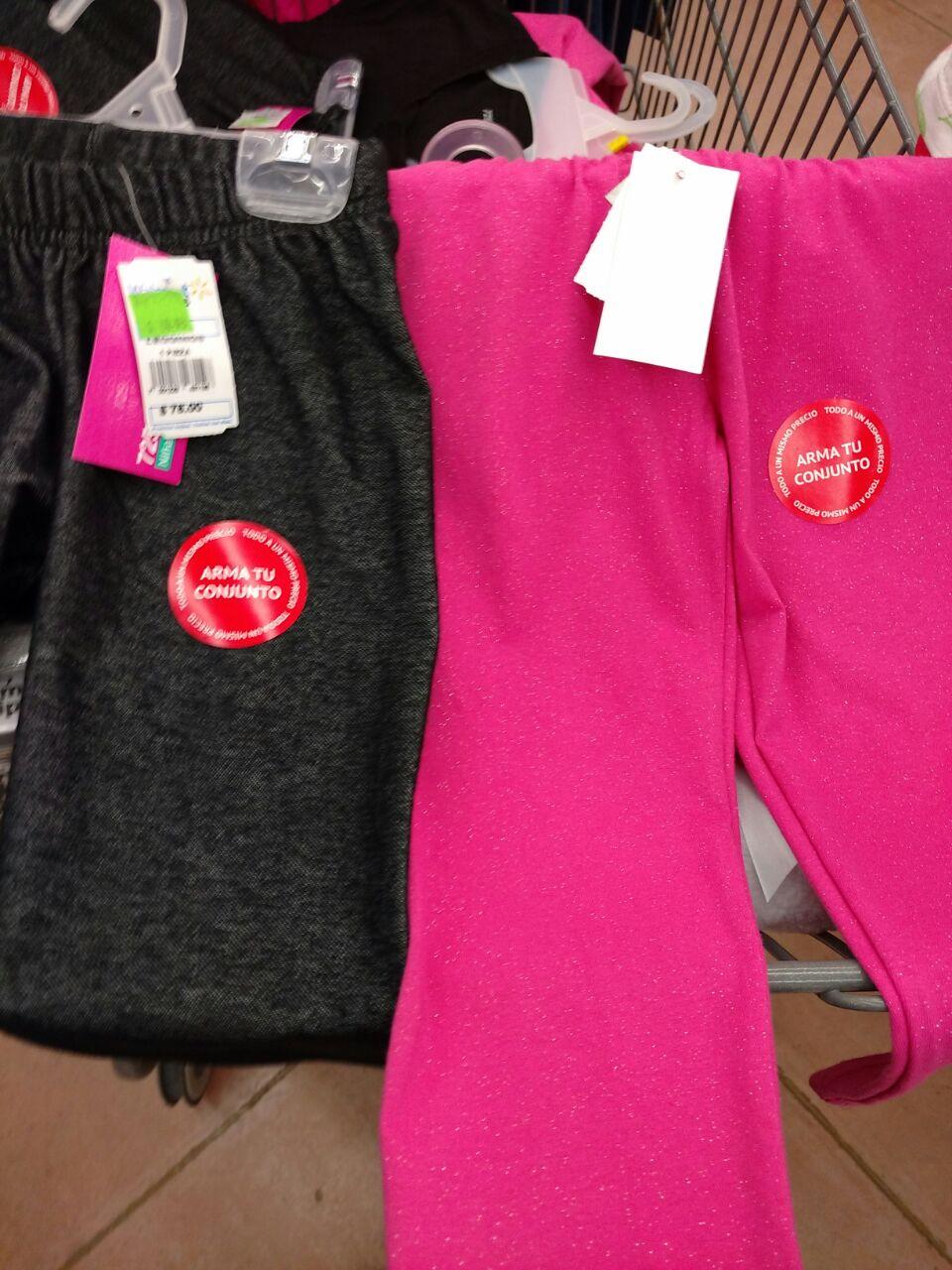 Walmart Polígono: Leggins para Niña y ropa para bebe a $30