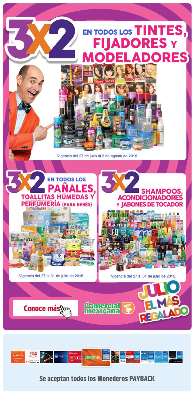 Julio Regalado 2016: Regresan los pañales al 3x2 y Shampoo, Acondicionadores y Jabon en barra tambien al 3x2