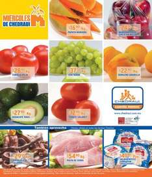Miércoles frutas y verduras Chedraui septiembre 5: plátano $4.40, cebolla $9.50 y más