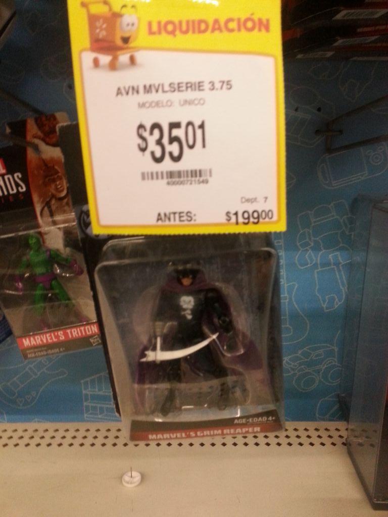 Walmart 3 Ríos Culiacán: Muñeco Marvel de $199 a $35.01