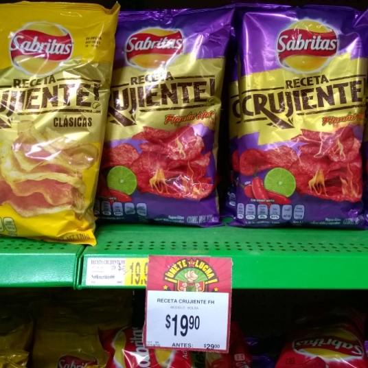 Bodega Aurrerá: Sabritas receta crujiente de $29 a $19.90
