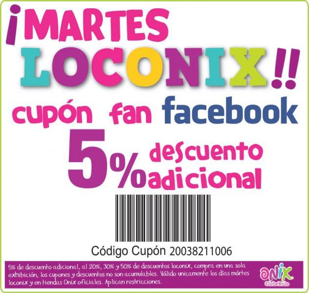 Onix: martes Loconix con descuentos de hasta el 50% y 5% extra
