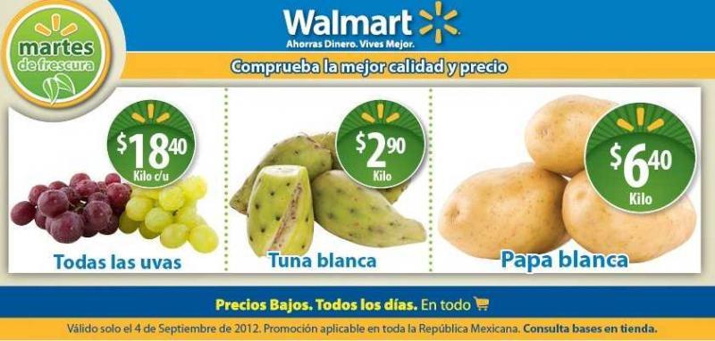 Martes de frescura Walmart septiembre 4: tuna $2.90, uvas $18.40 y más