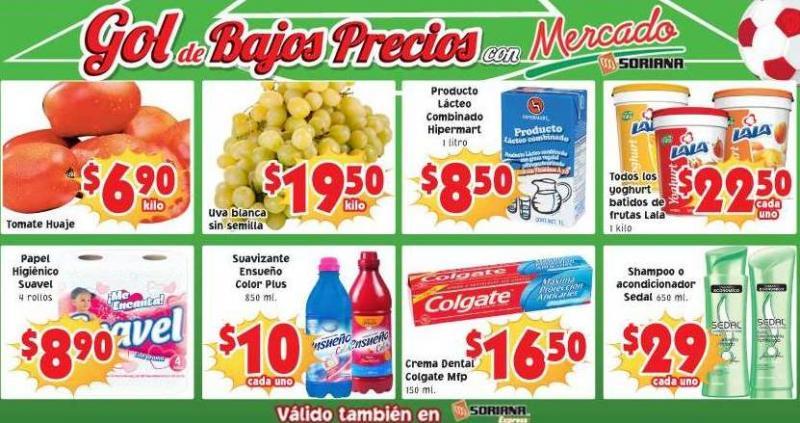 Ofertas de frutas y verduras en Soriana julio 8 y 9