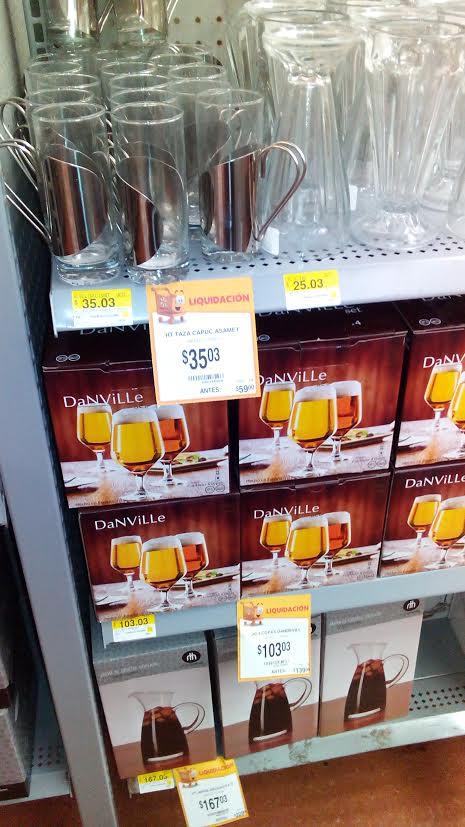 Walmart Solidaridad: varias liquidaciones, botaneros, copas, tazas para capuccino, fundas y más