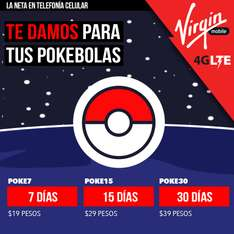 Paquetes Virgin mobile Pokemon Go