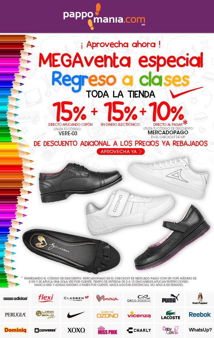 Pappomania: Megaventa, 15% + 15% + 10% de descuento en todo el calzado