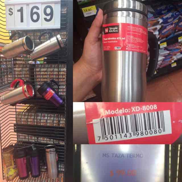 Walmart Comalcalco Cancún: Termo de aluminio a $99