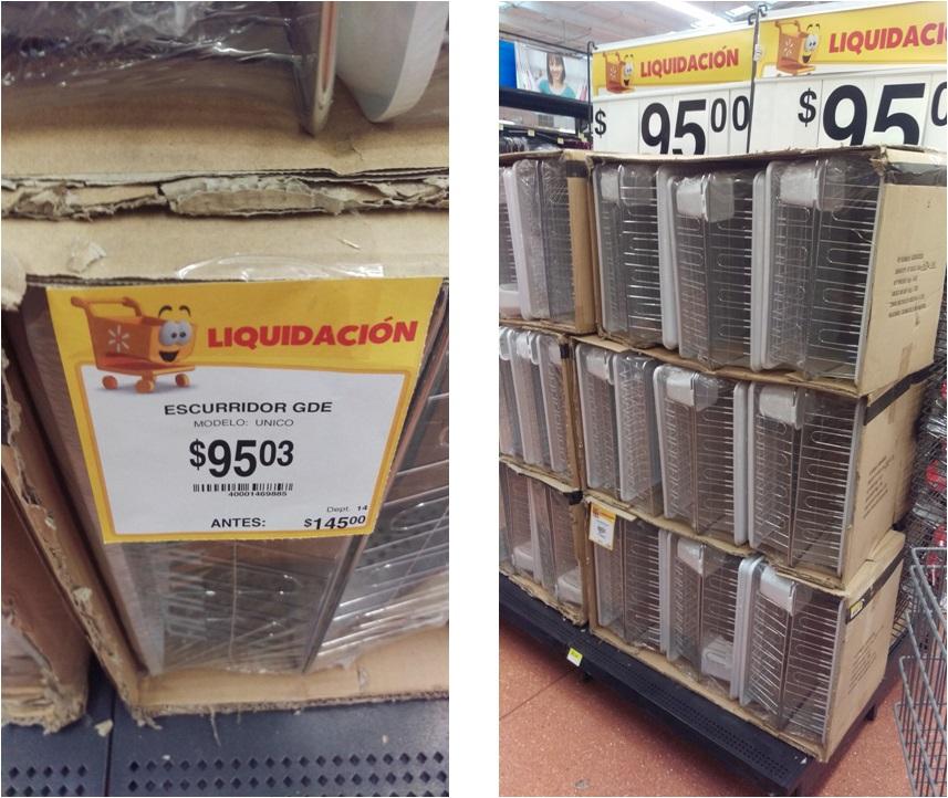 """Walmart Fresisur (perisur): escurridor en """"1ra. liquidación""""!! de $145 a $95.03"""